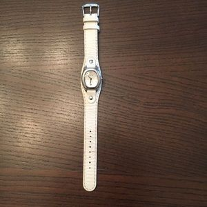 Fossil Cream Leather Watch